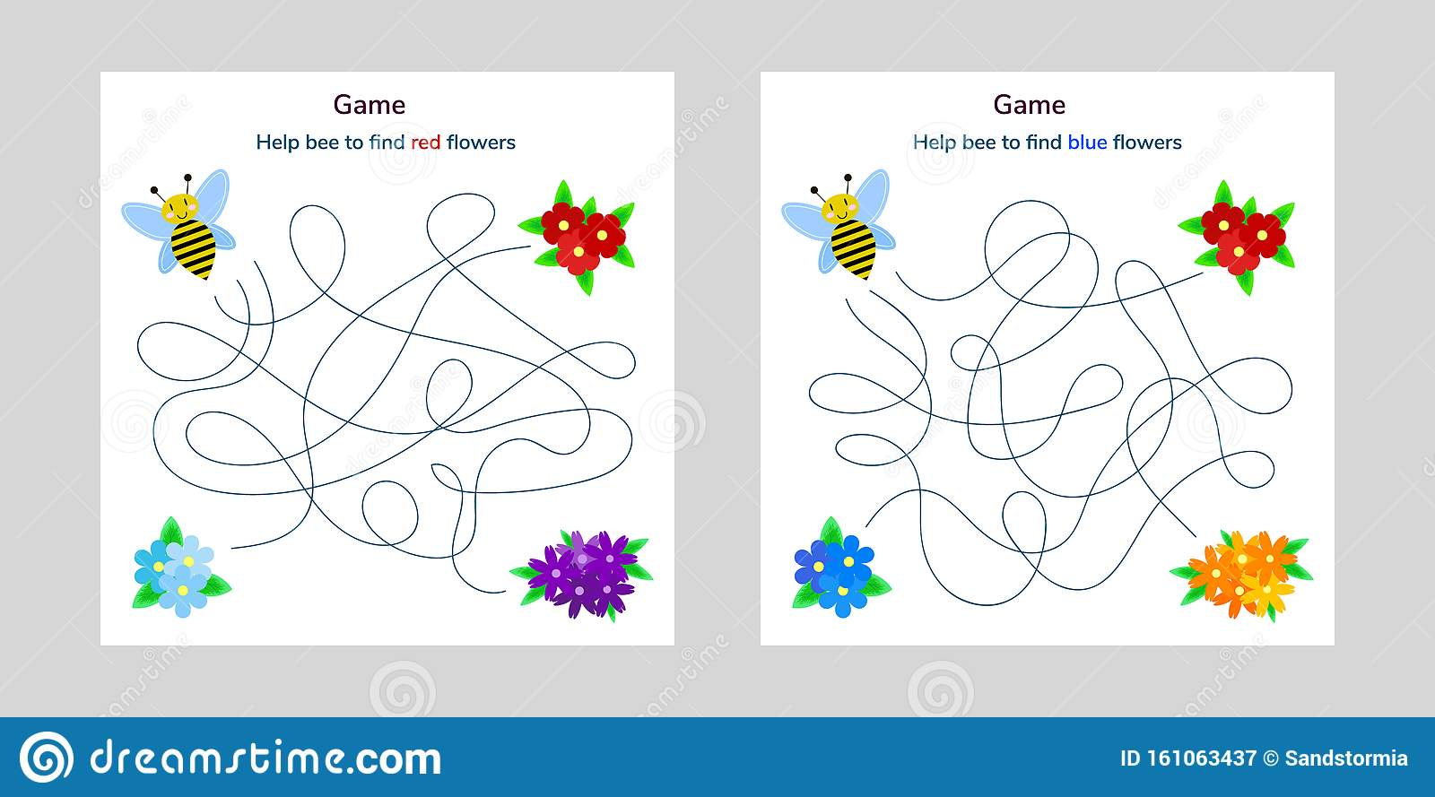 Game For Children Maze Or Labyrinth For Kids Cartoon