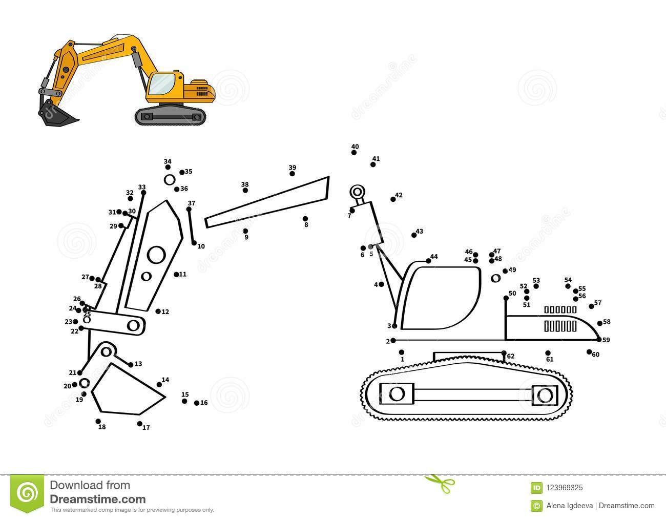 Game For Kids Stock Vector Illustration Of Backhoe