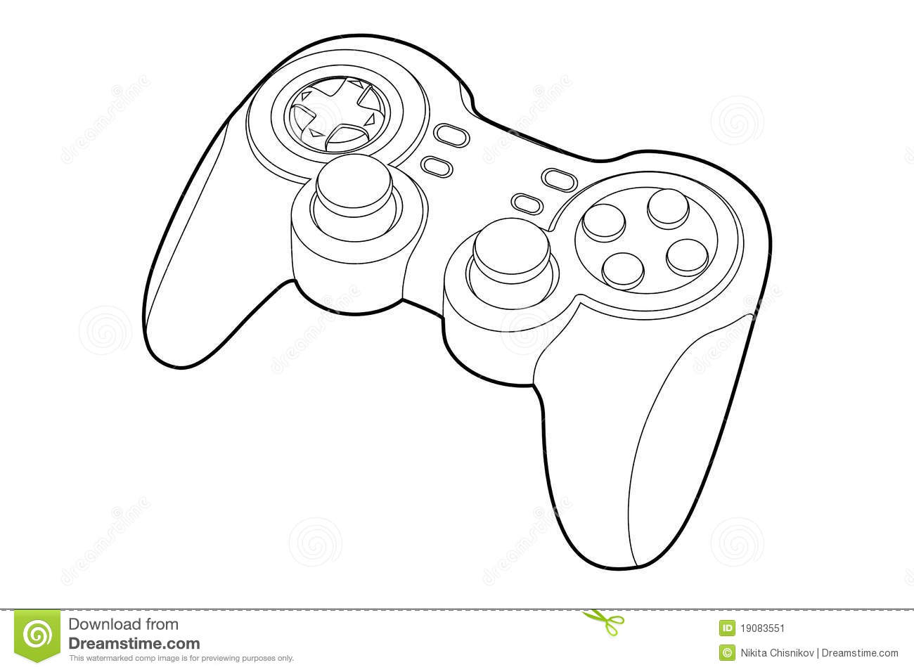 Game-pad stock vector. Illustration of illustration, games