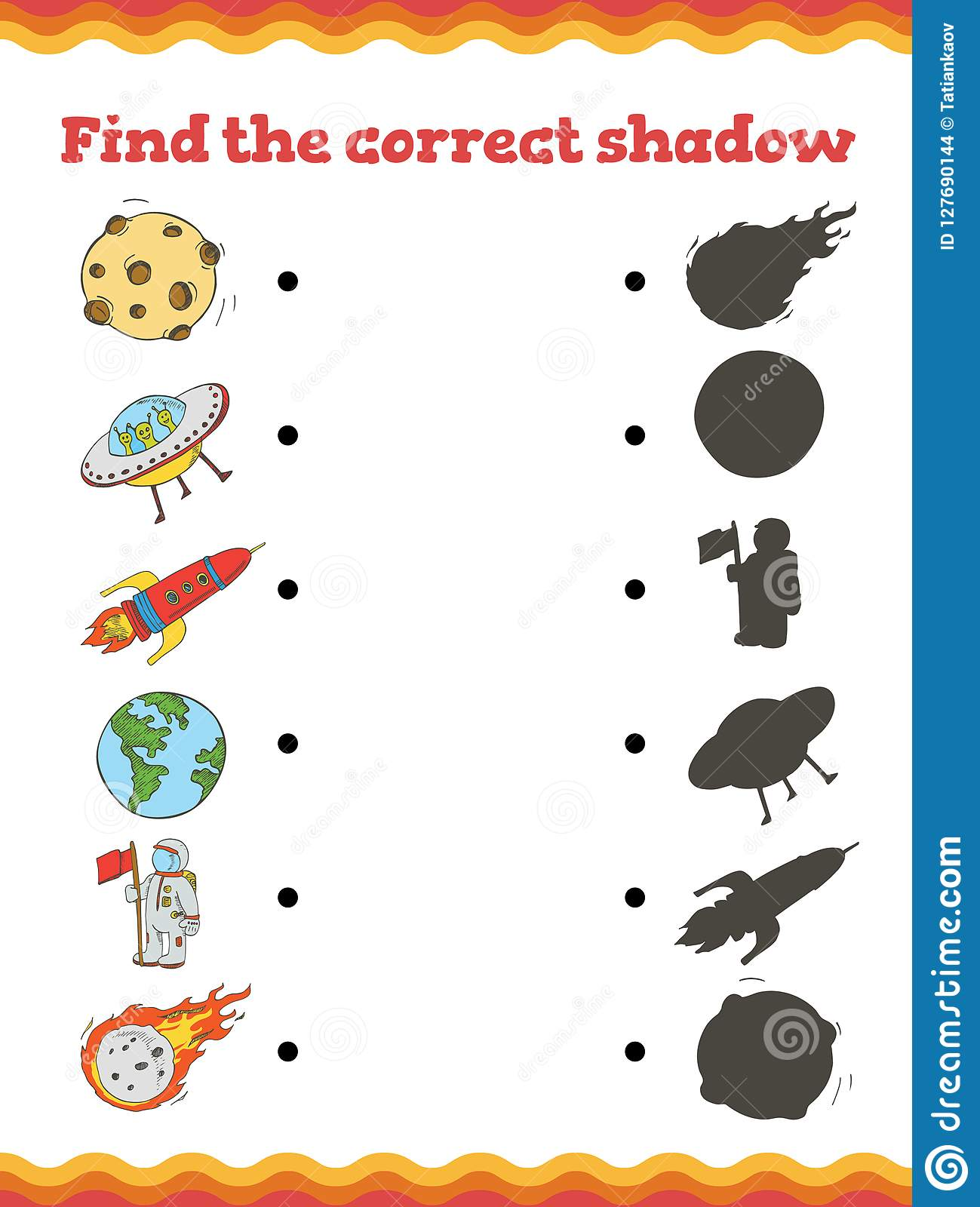 Shadow Matching Free Worksheet
