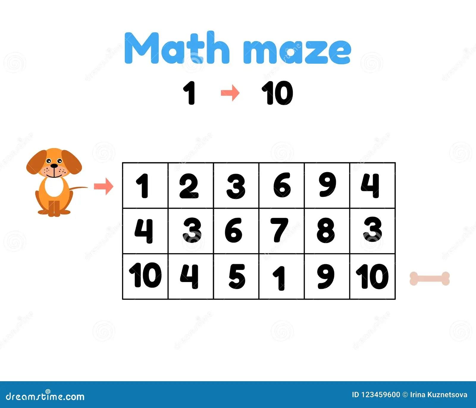 Game For Preschool Children Mathematical Maze Help The