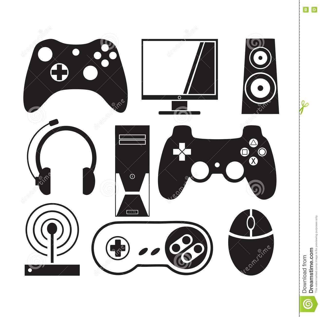 Games And Console Vector Stock Vector Illustration Of