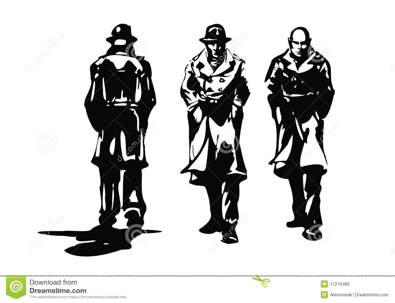 Gangster Collection Royalty Free Stock Photo