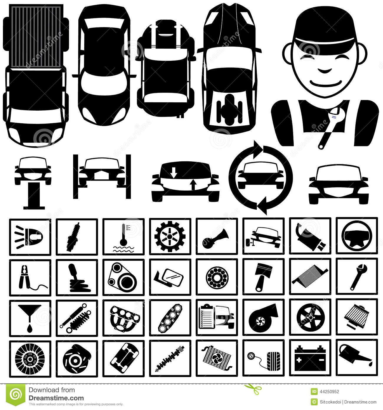 Garage Icons 2 Stock Vector
