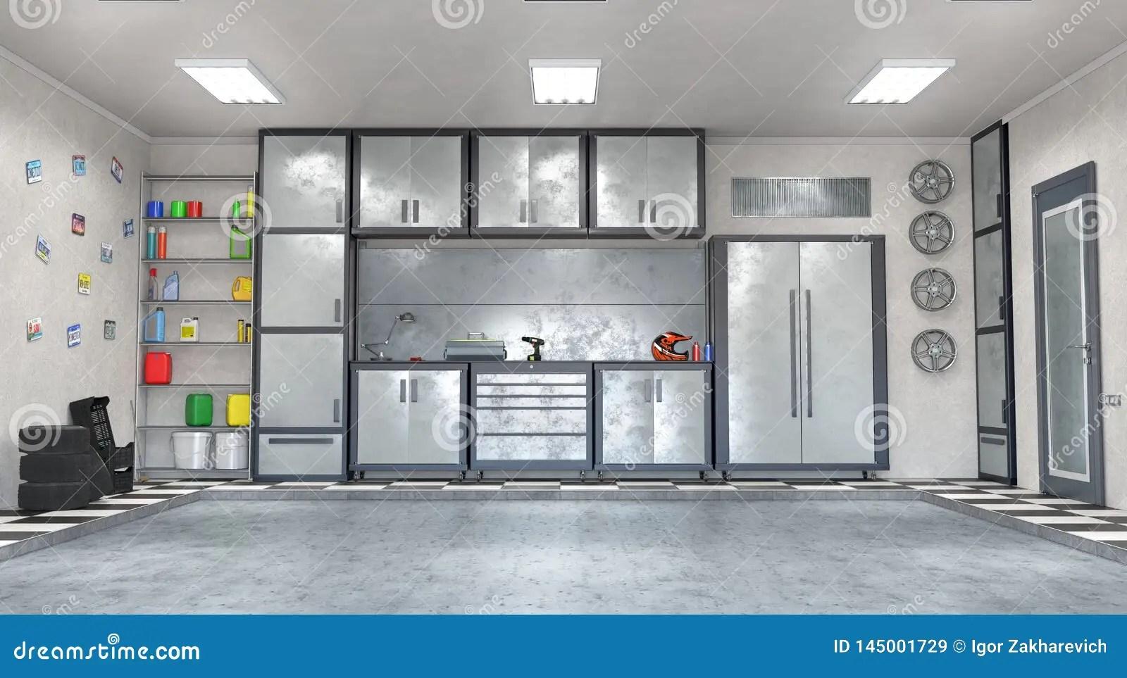 Garage Interior Stock Illustration Illustration Of Building 145001729