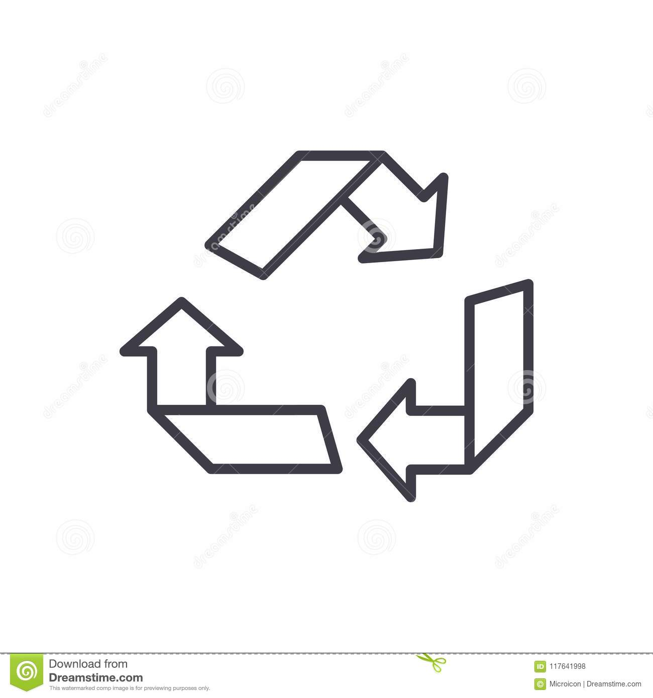 Green Eco Recycling Factory Vector Illustration