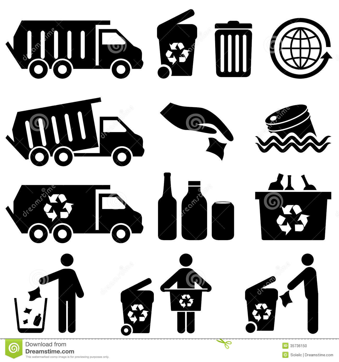 Garbage And Recycling Stock Photo