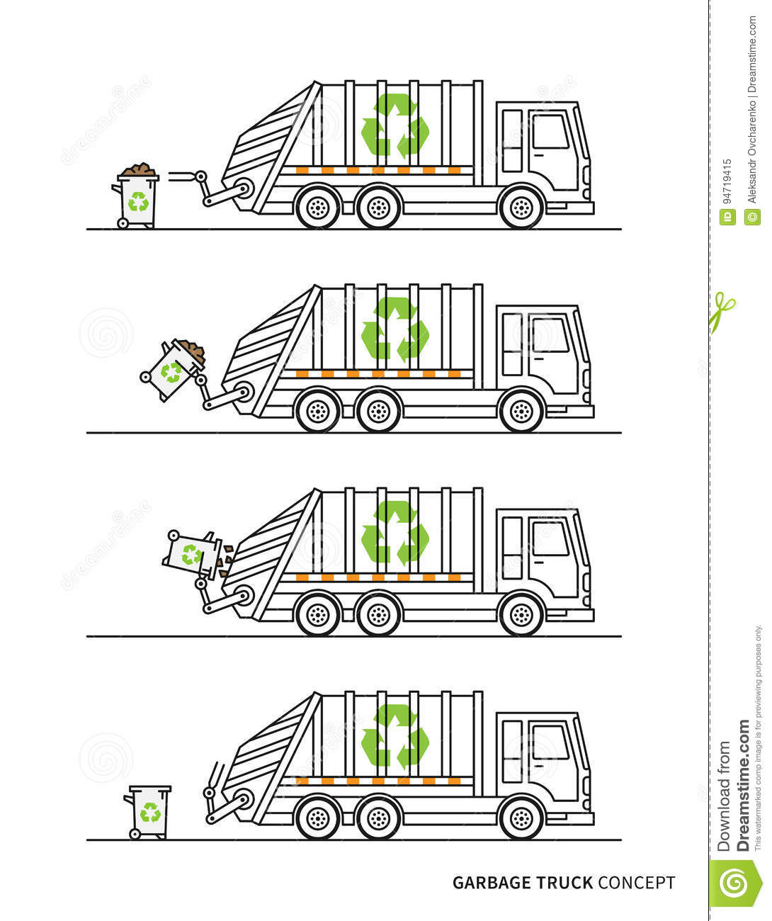 hight resolution of garbage truck diagram