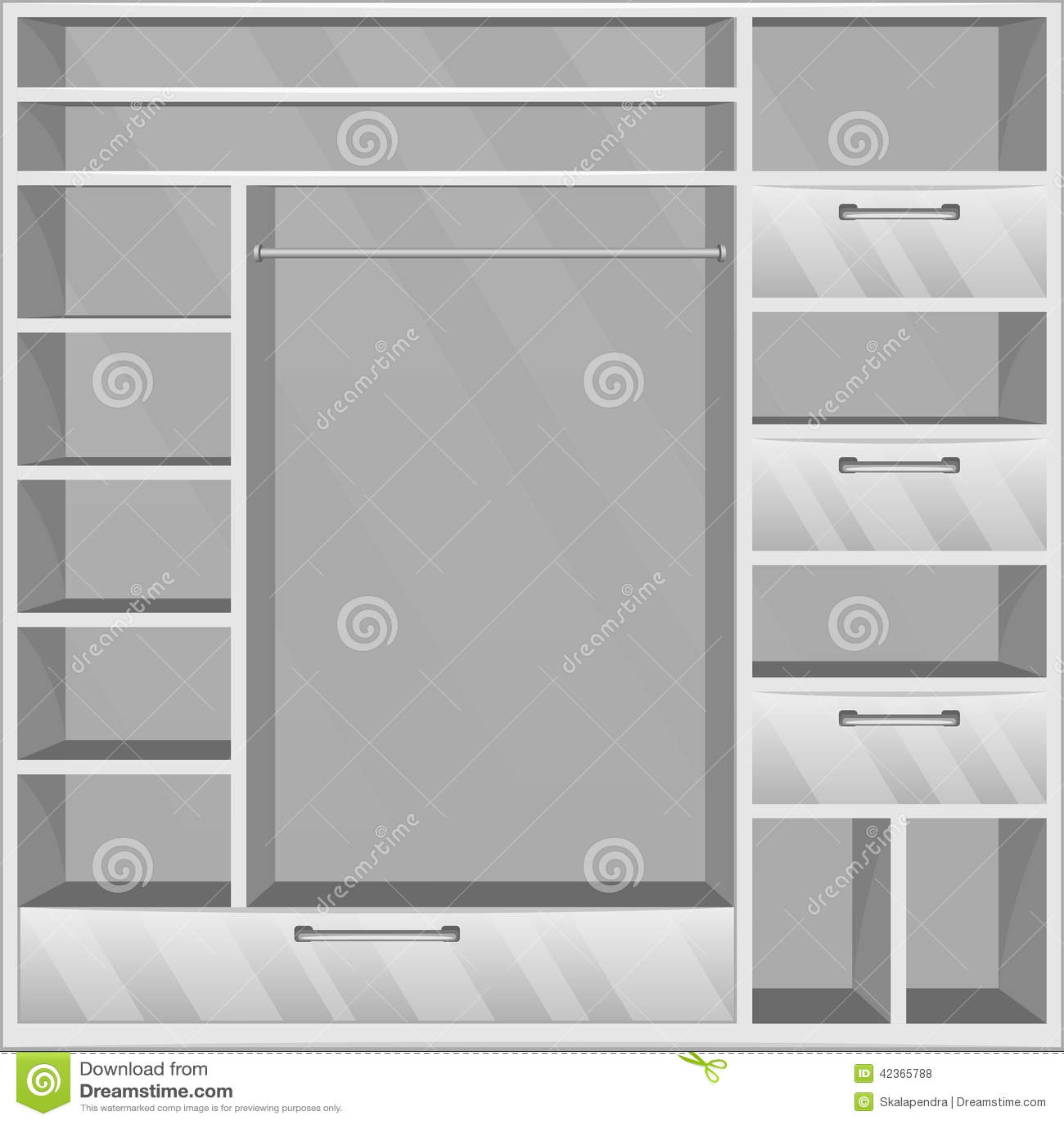Garderobe Vide Illustration De Vecteur  Image 42365788