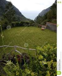 Garden in country house stock photo. Image of house, view ...