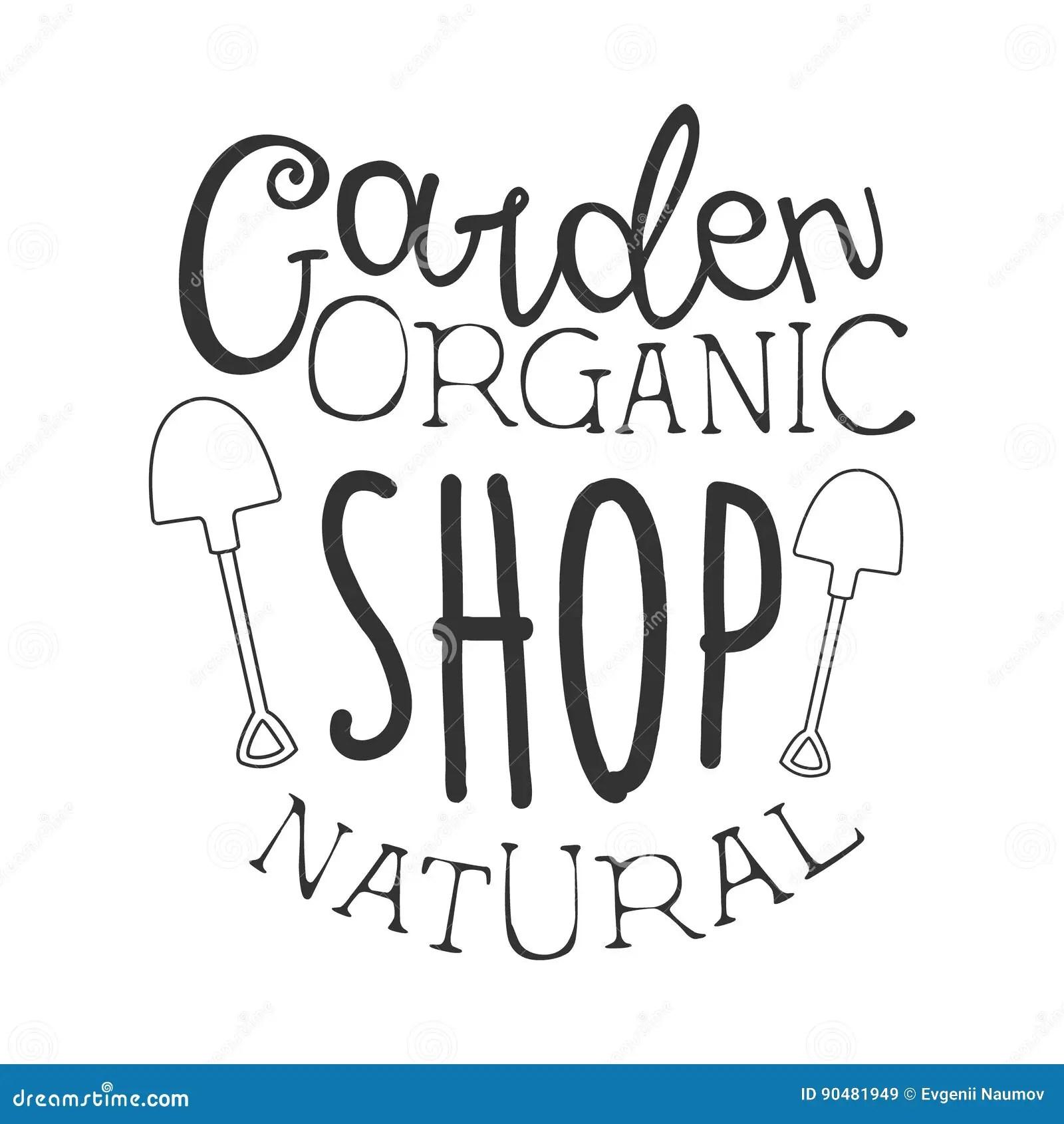 Garden Natural Organic Shop Black And White Promo Sign