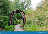 Garden Path And Arbor Stock Photo - Image: 45539782
