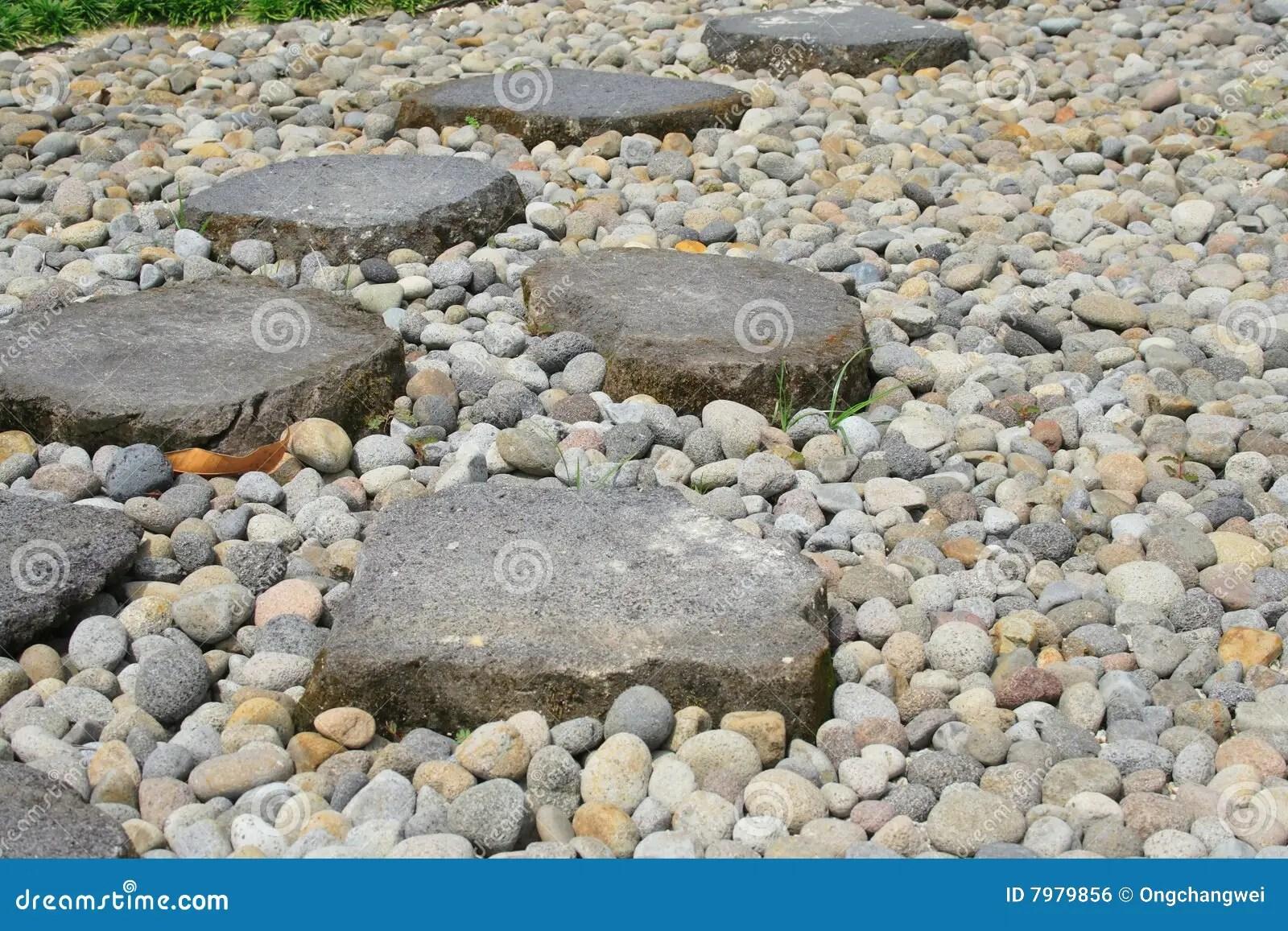 garden stone path stock
