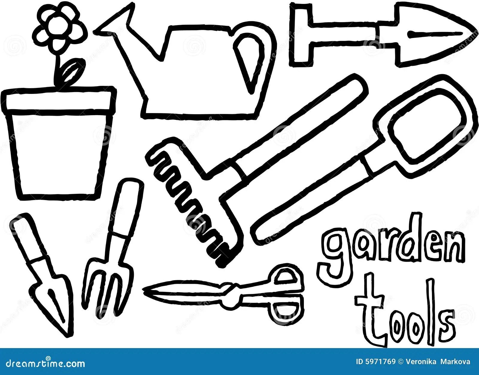 Garden tools stock vector. Illustration of illustration