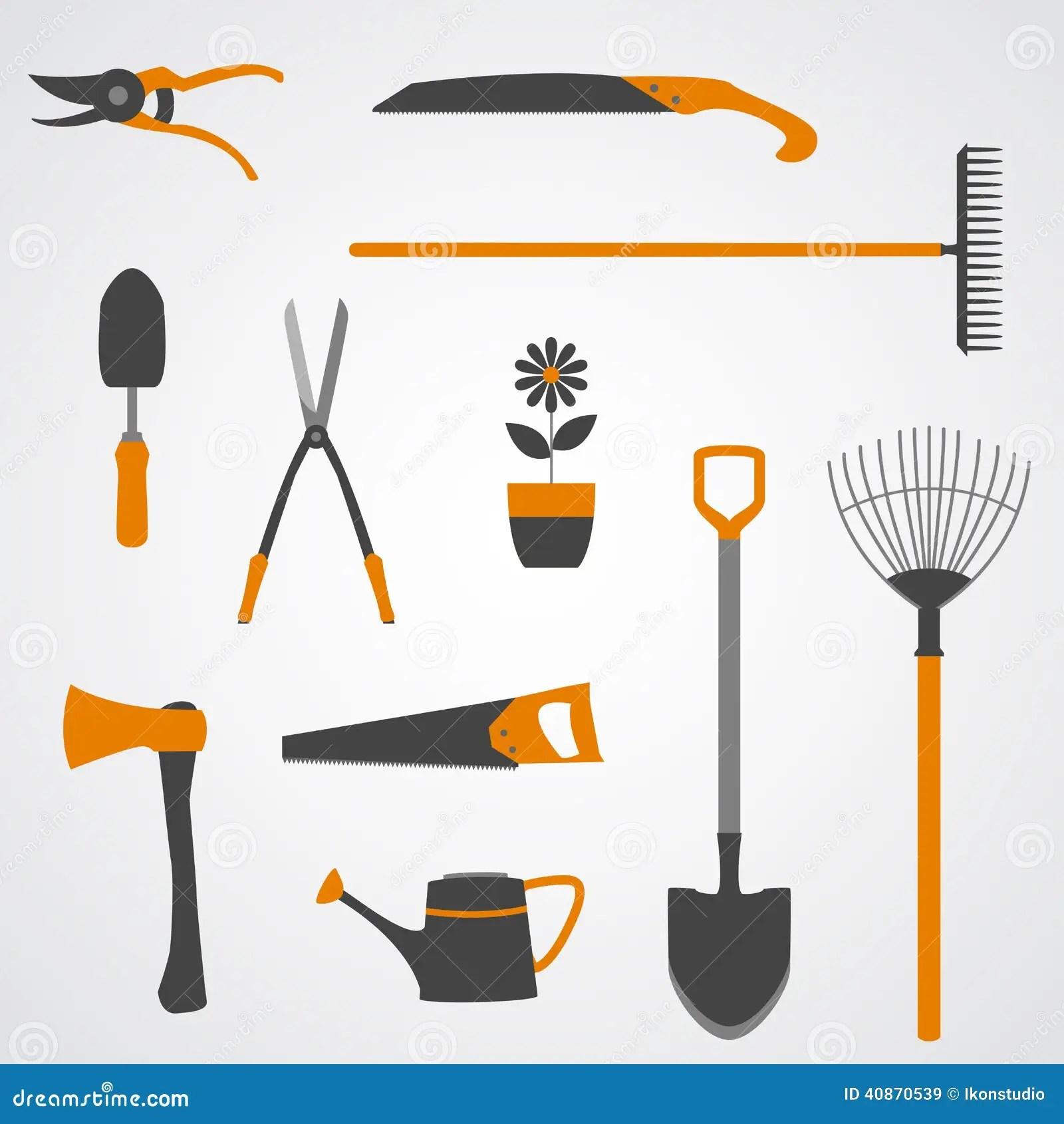 Garden Tools Icons Stock Vector Illustration Of Florist