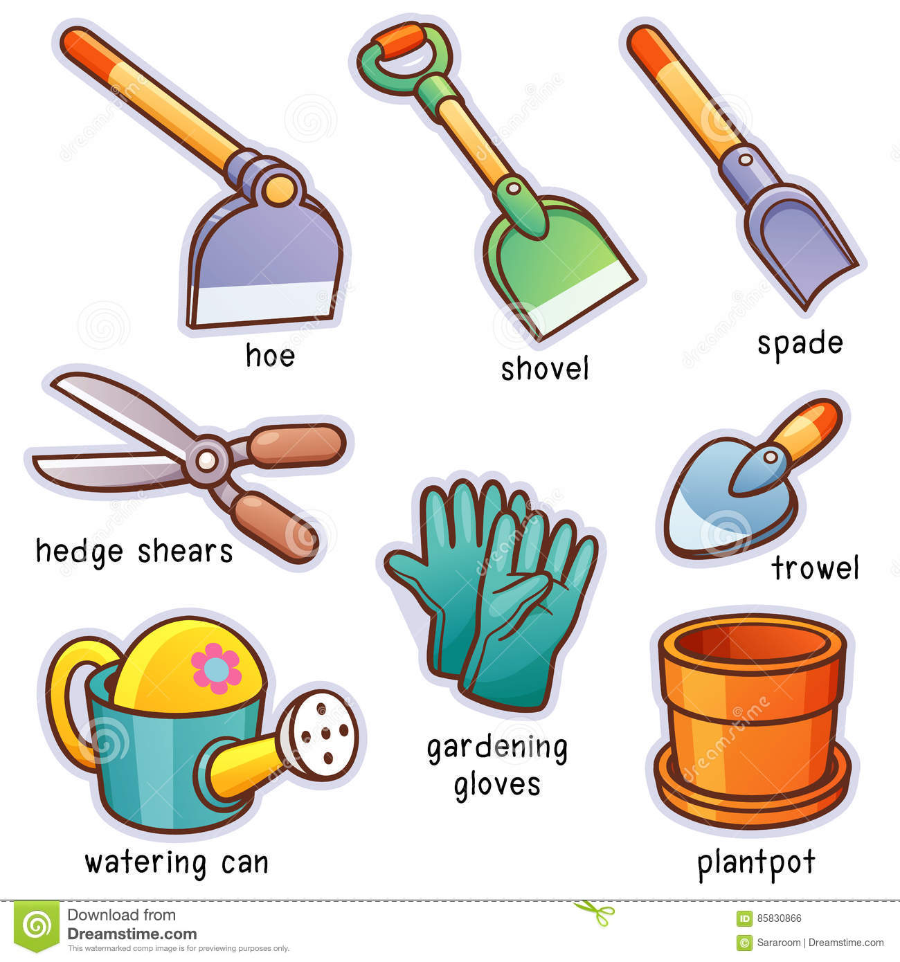 Garden Tools Stock Vector Illustration Of Agriculture