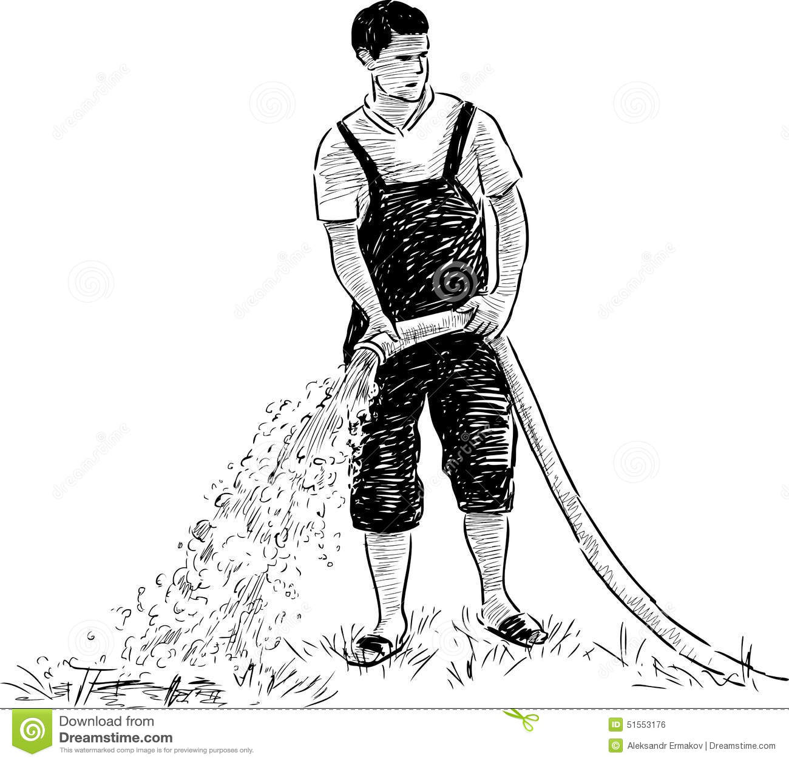 Gardener At Work Stock Vector Illustration Of Park