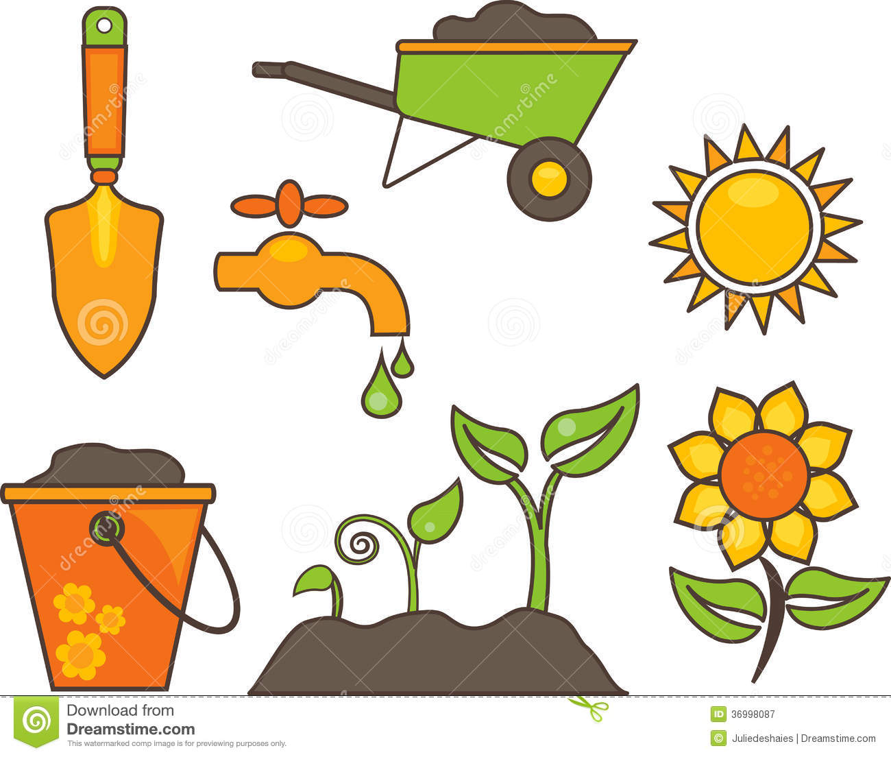 Gardening Equipment Illustration Stock Vector