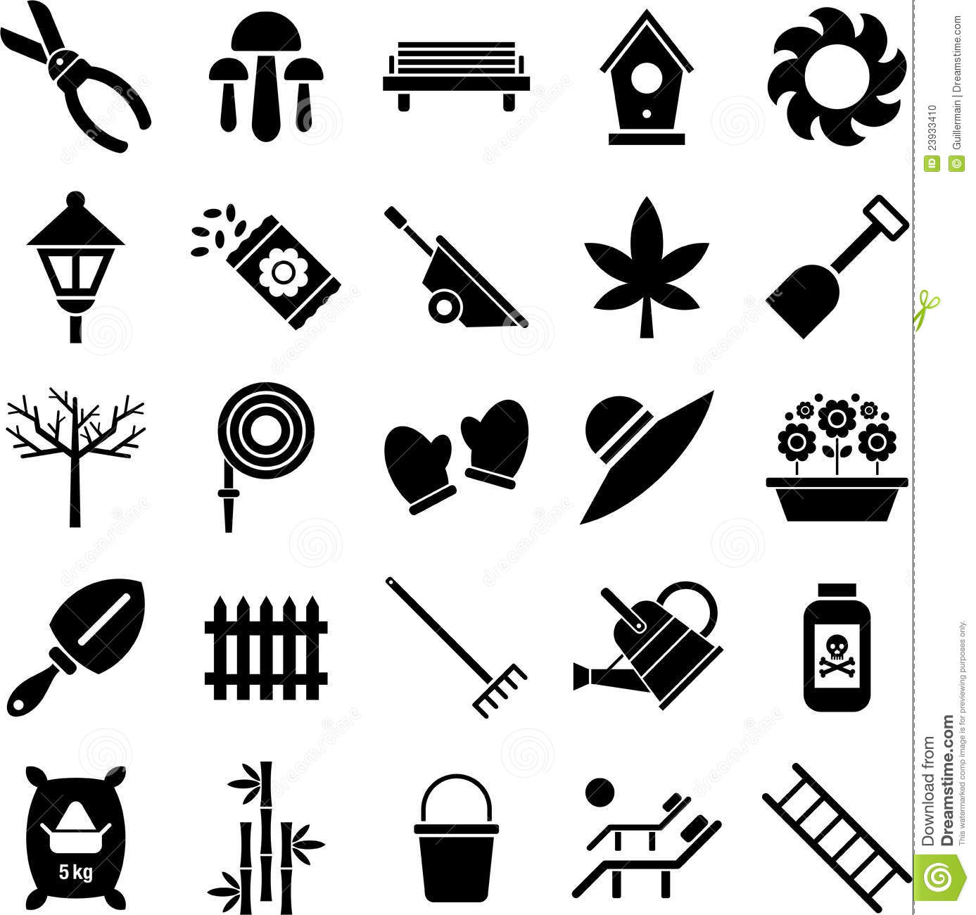 Gardening Icons Stock Vector Illustration Of Forest