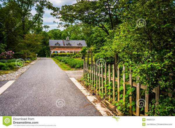 Gardens And Building Cylburn Arboretum In Baltimore Maryland Stock - 48560721