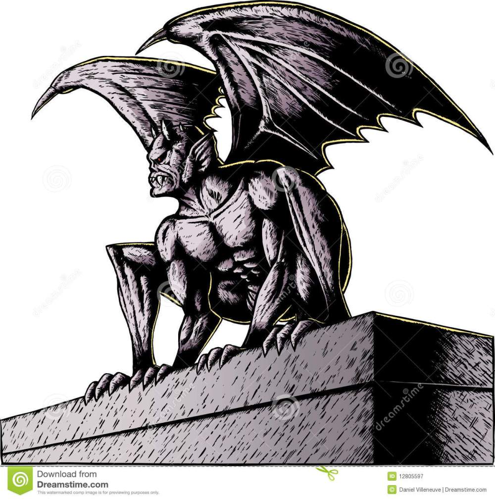 medium resolution of gargoyle at night gargoyle perched atop a building ready to pounce with