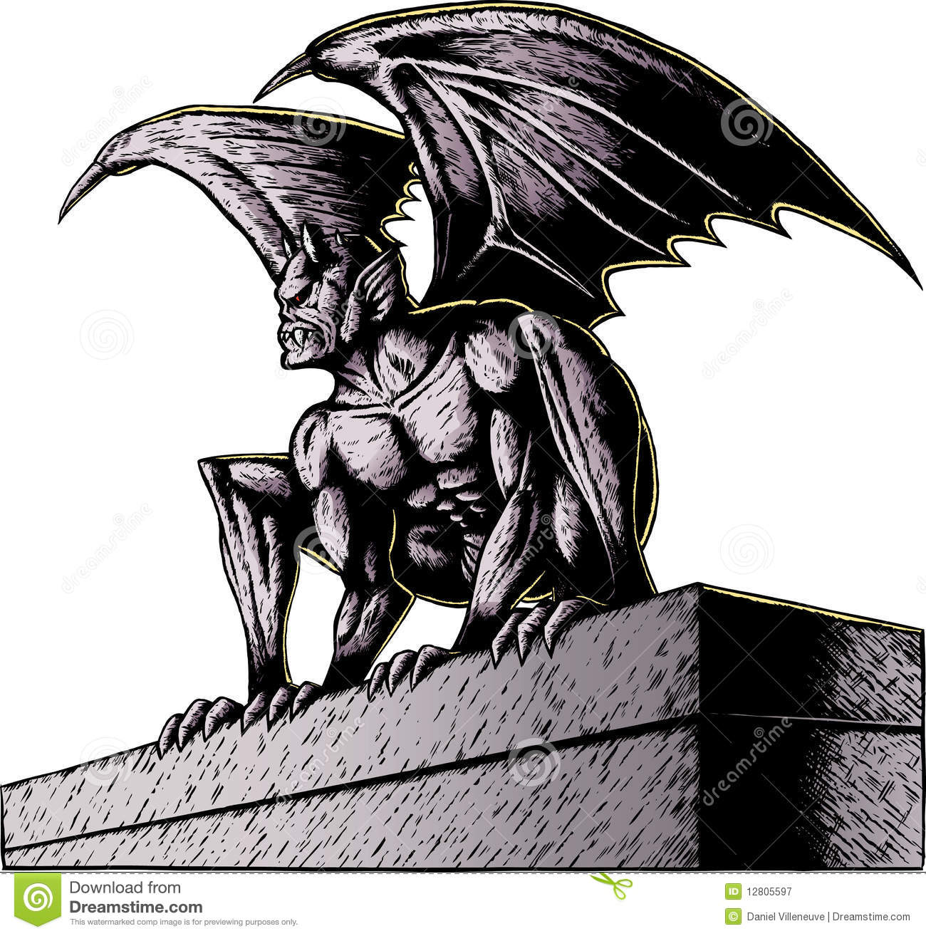 hight resolution of gargoyle at night gargoyle perched atop a building ready to pounce with