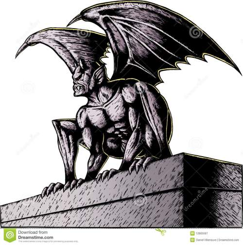 small resolution of gargoyle at night gargoyle perched atop a building ready to pounce with