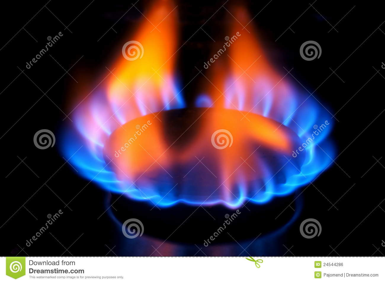 natural gas kitchen stove turquoise decor burner flame royalty free stock image - image: 24544286