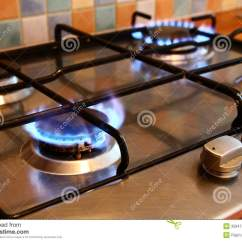 Natural Gas Kitchen Stove Hinges For Cabinets Cooker Stock Image - Image: 35947411