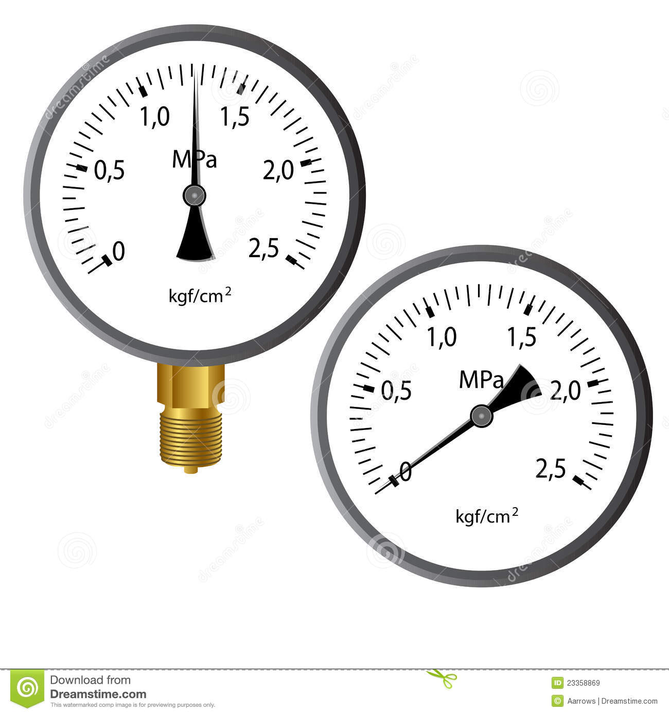 The Gas Manometer Stock Vector Illustration Of Technology