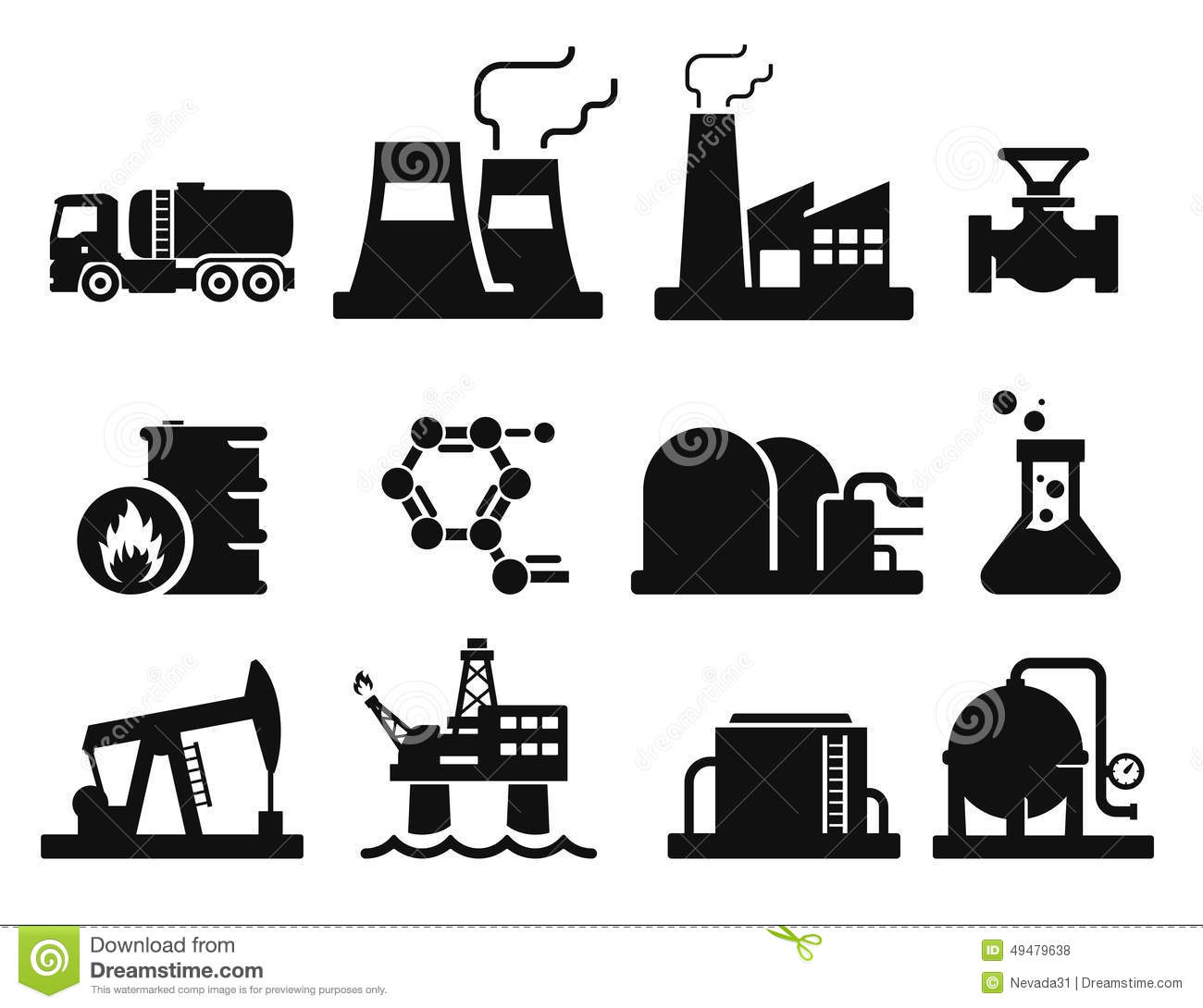 Gas And Oil Stock Illustration Illustration Of Symbol