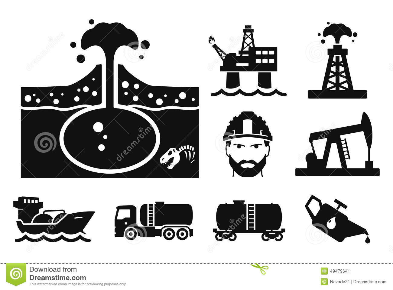 Gas And Oil Stock Illustration Image Of Icon Incision