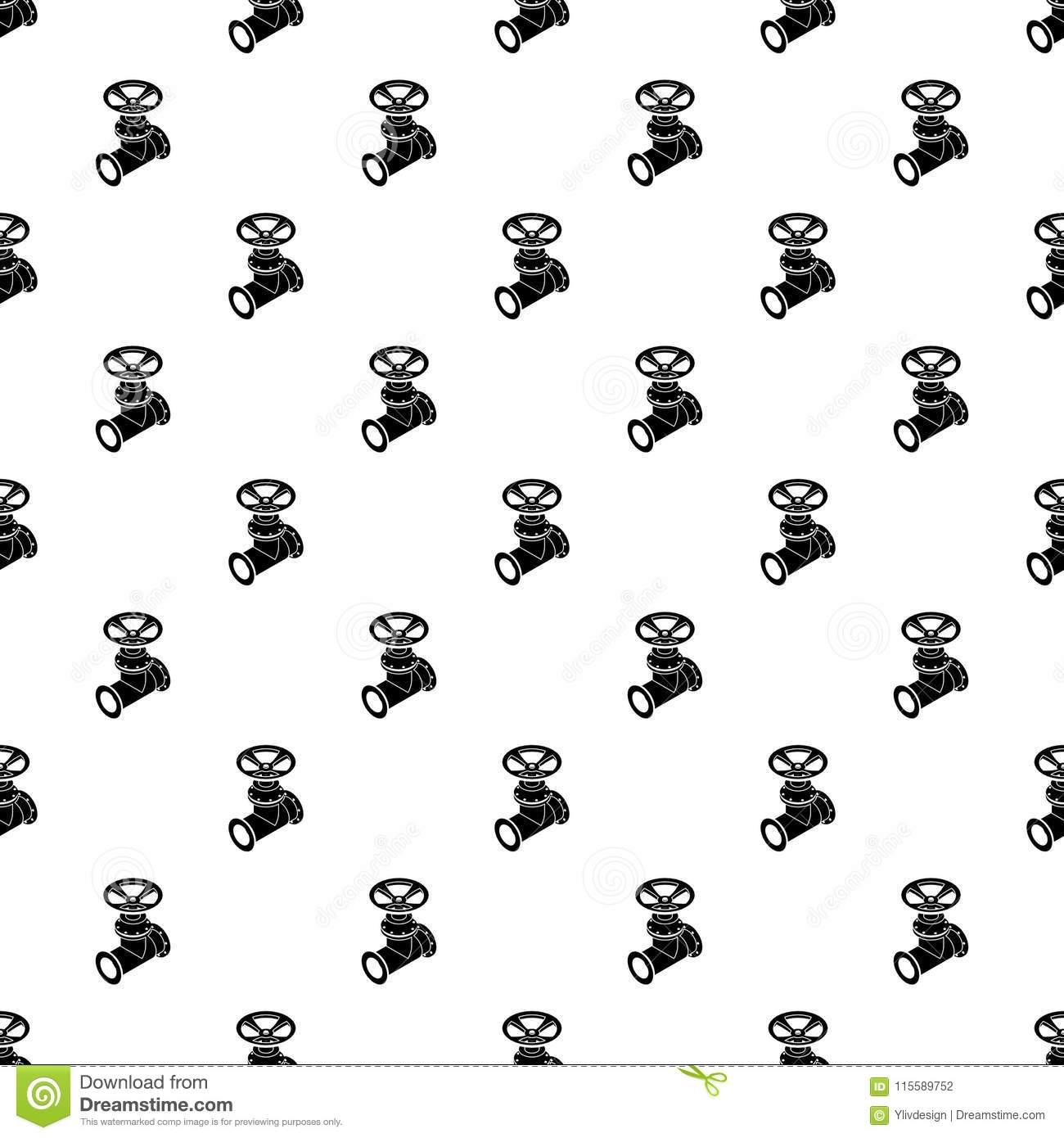 Gas Pipe Pattern Vector Seamless Stock Vector