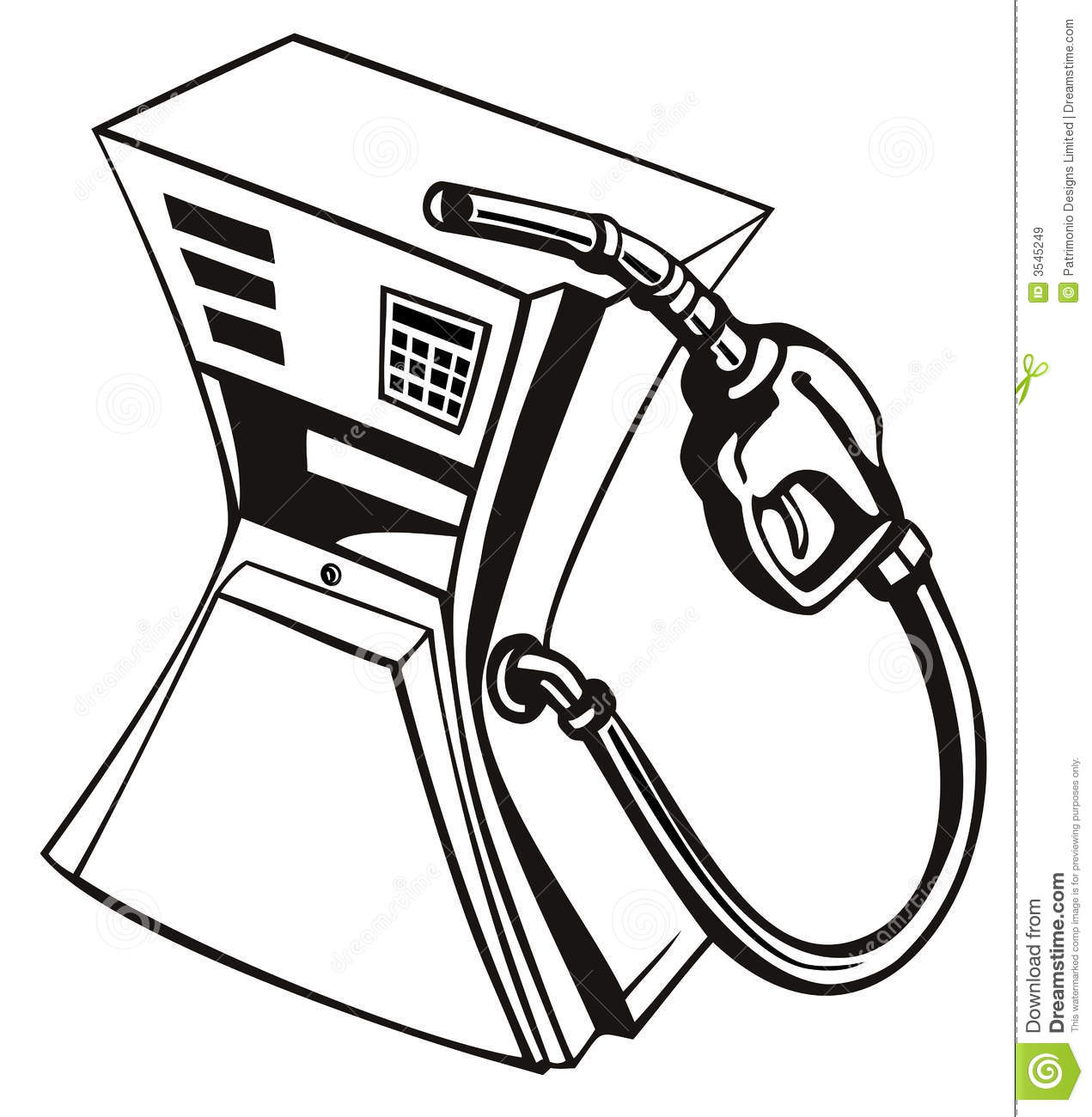 Gas pump squeezed stock vector. Illustration of petrol