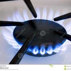 Natural Gas Kitchen Stove Bulletin Board Flame Royalty Free Stock Images - Image: 1486479