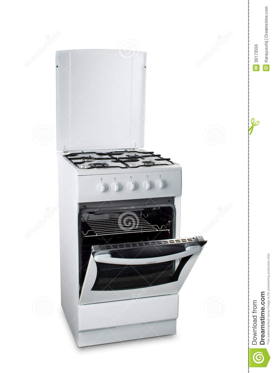 major kitchen appliances hotel suites with gas stove open oven royalty free stock image - ...