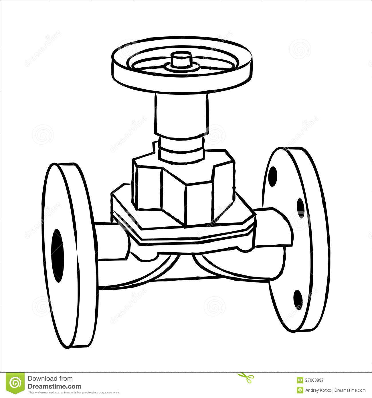 Gas Valve Royalty Free Stock Photography