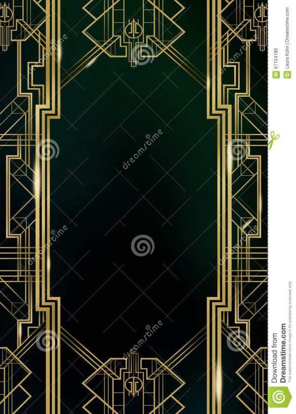 Great Gatsby Art Deco Backgrounds Gold