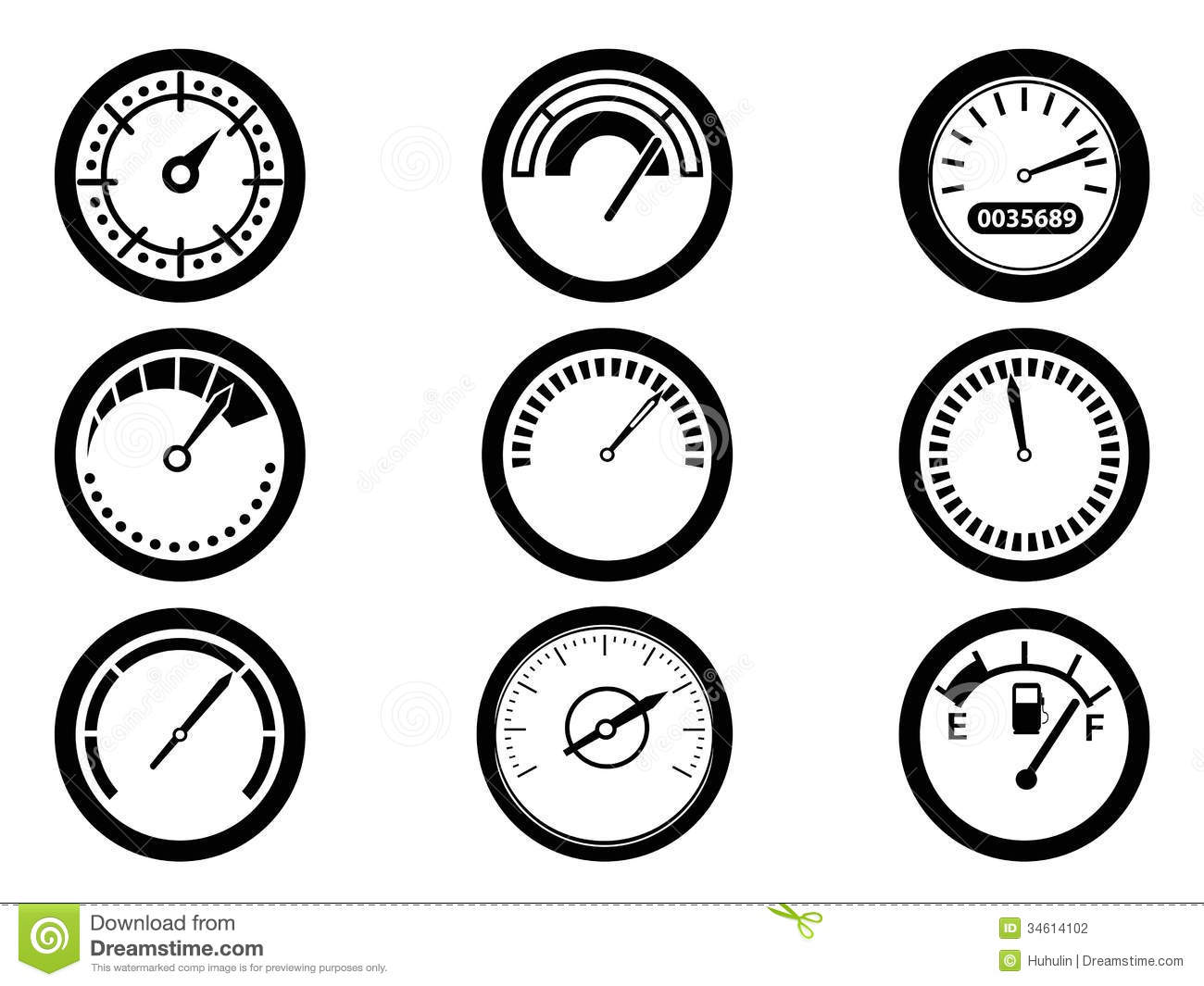 Gauge Icons Stock Vector Image Of Display Gauge Graphic
