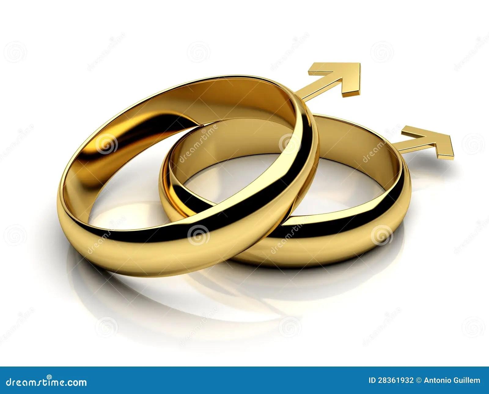 Gay male wedding rings stock illustration Illustration of