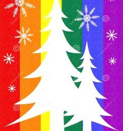 gay pride flag christmas tree card [ 1101 x 1300 Pixel ]