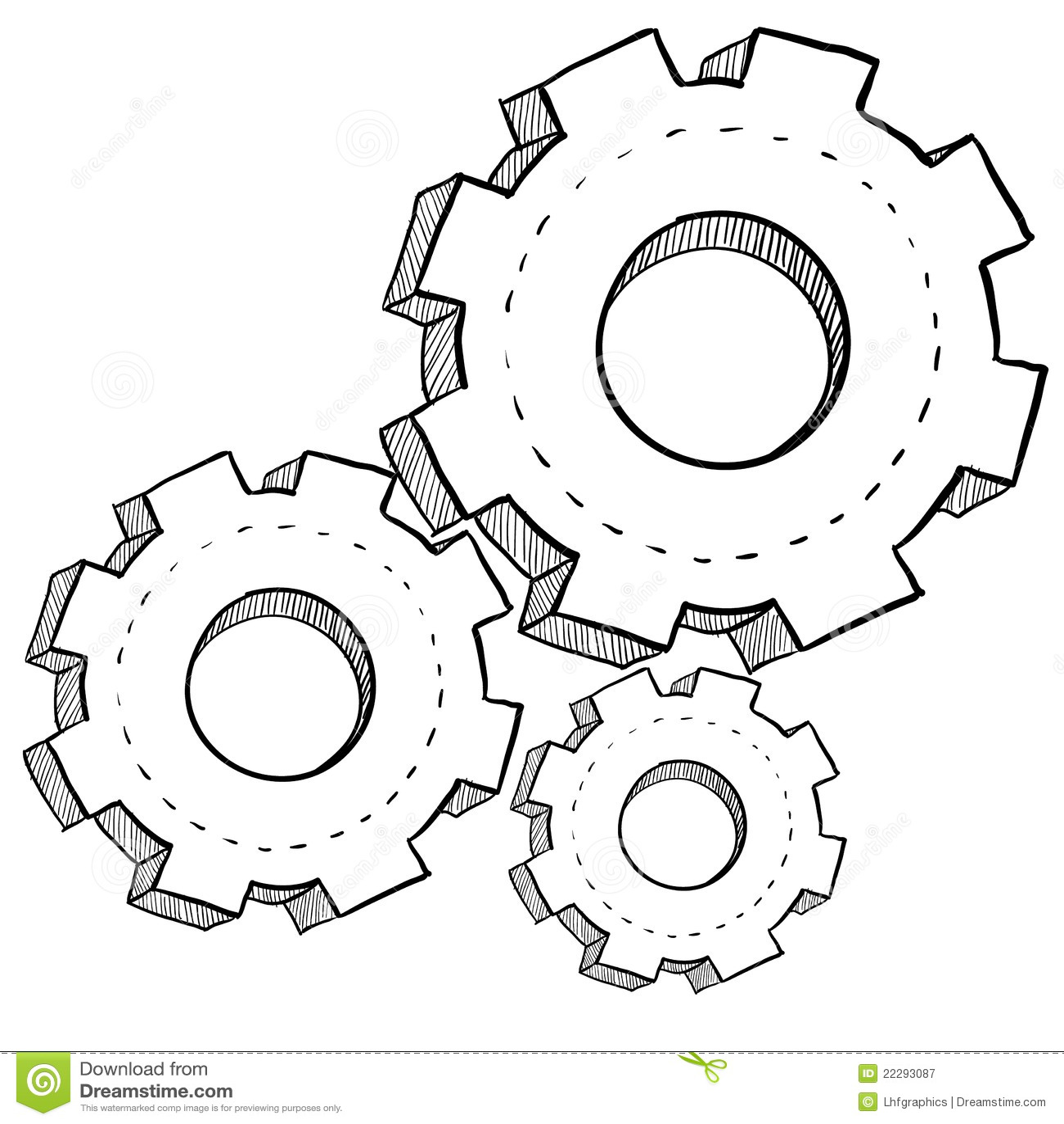 Gear, Mechanics, Or Settings Illustration Stock Vector