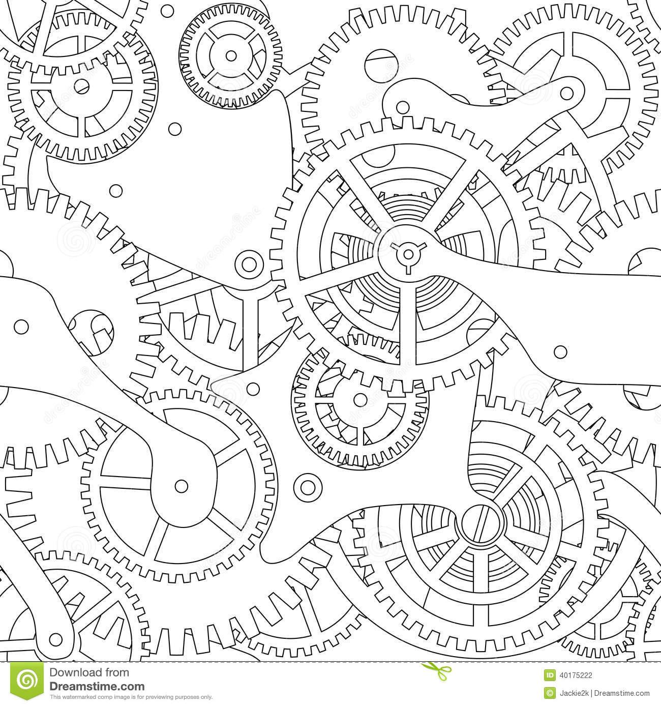 Gear Seamless Texture Stock Vector Illustration Of