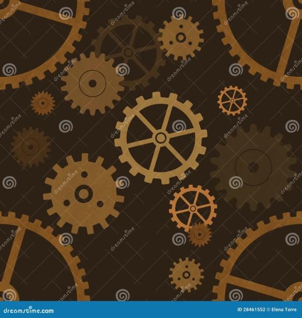 Gear Wheels Seamless Pattern Stock