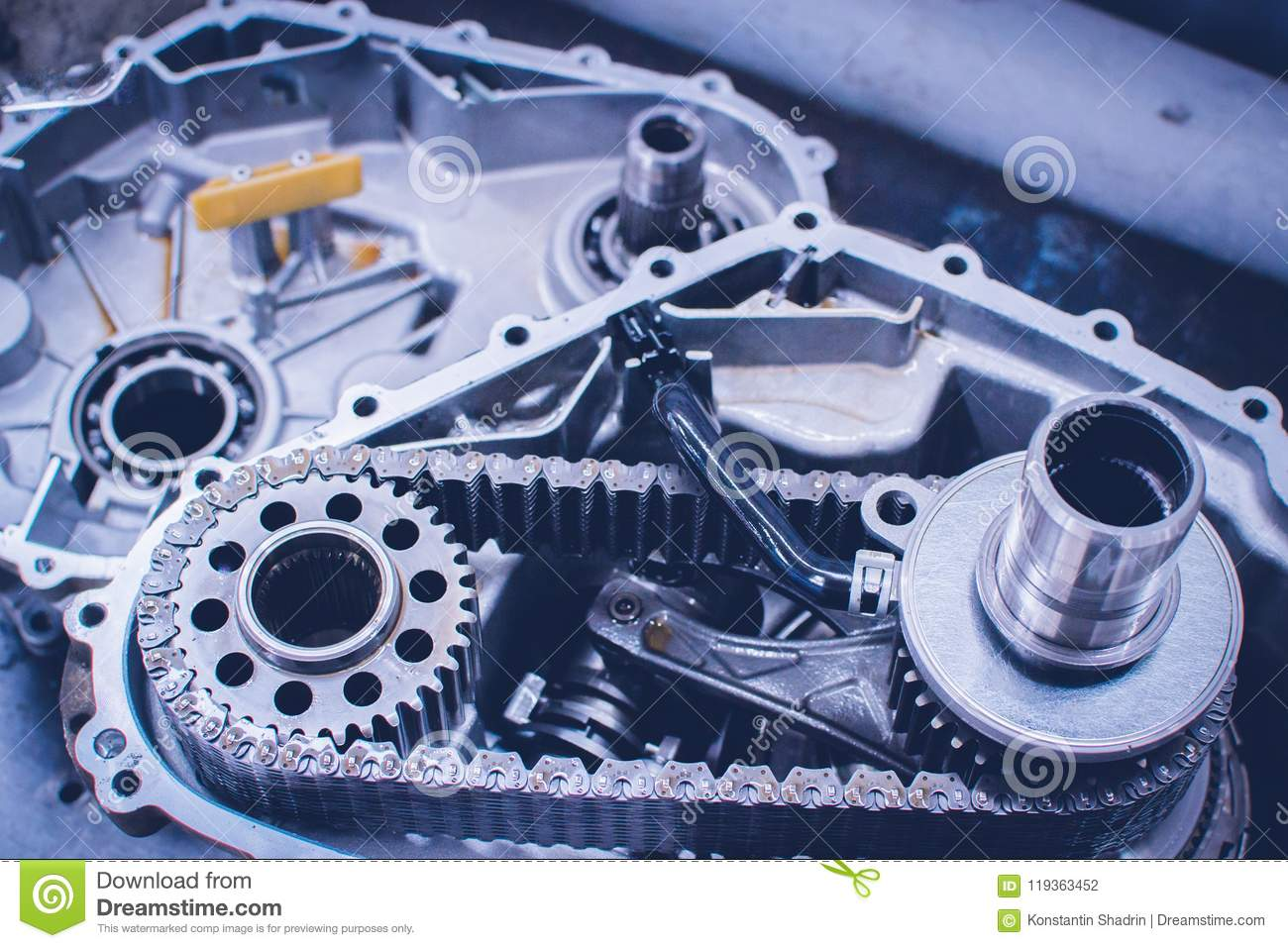 hight resolution of gears from a motorcycle gearbox