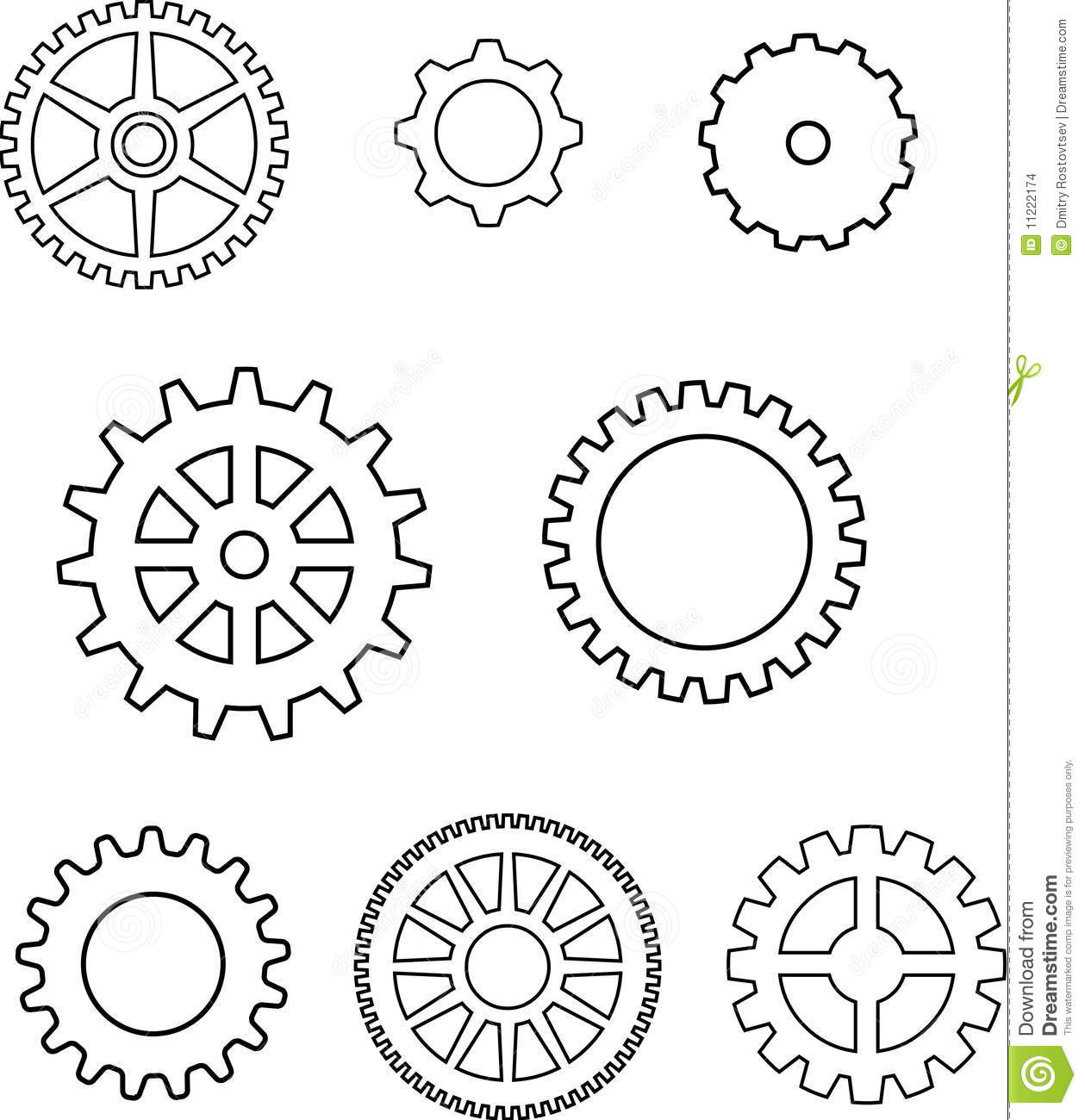 Gears In Vector Stock Images