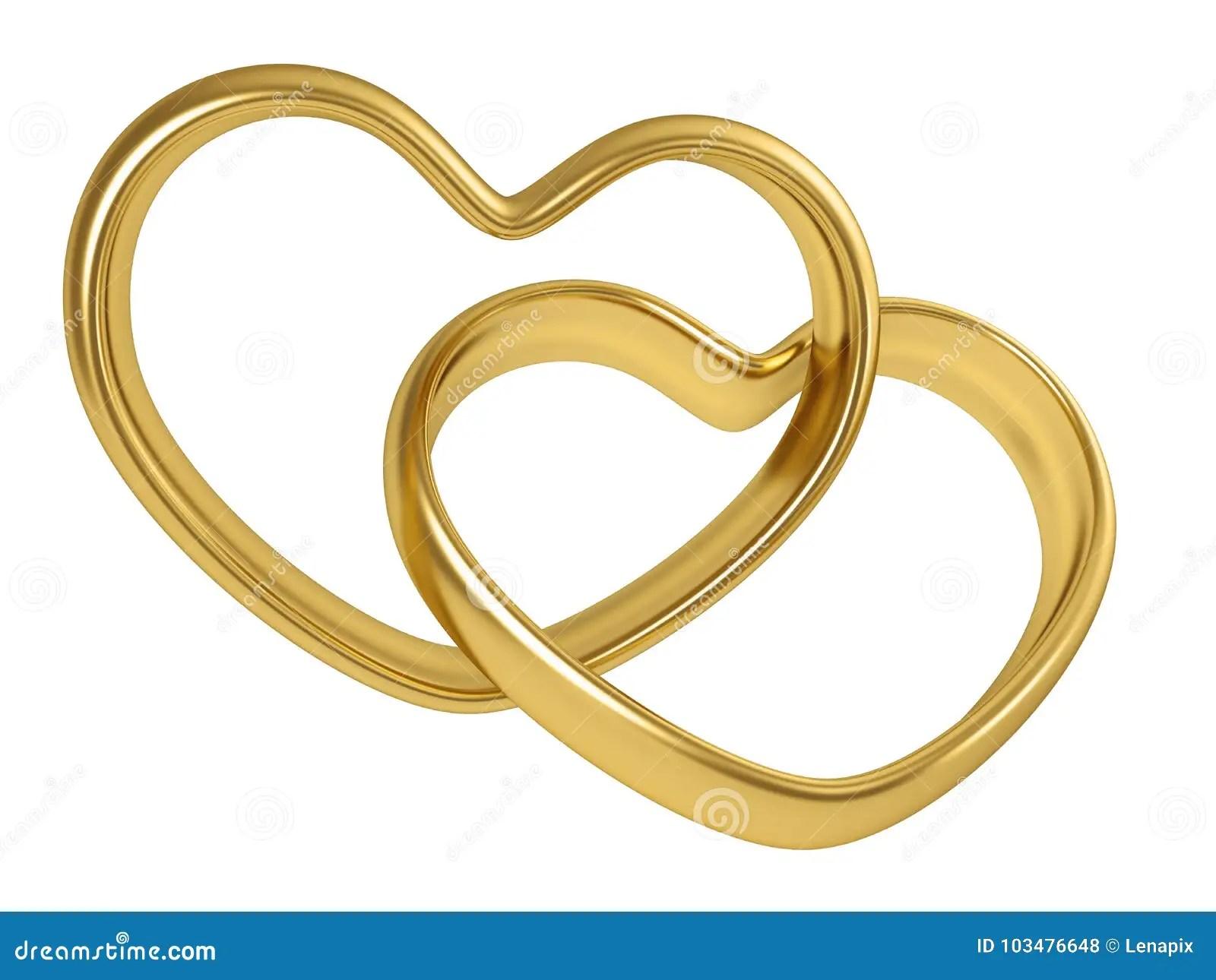 Goldene Ringe 2 Stock Illustrationen Vektors  Klipart