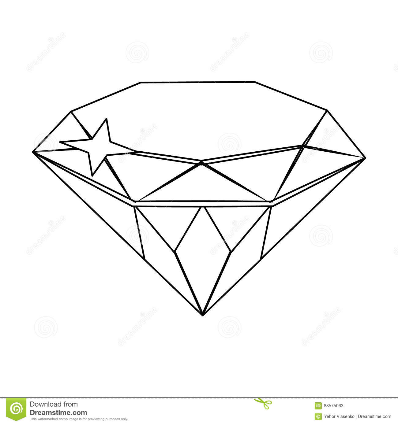 Gem Diamond A Valuable Prize In The Single Icon