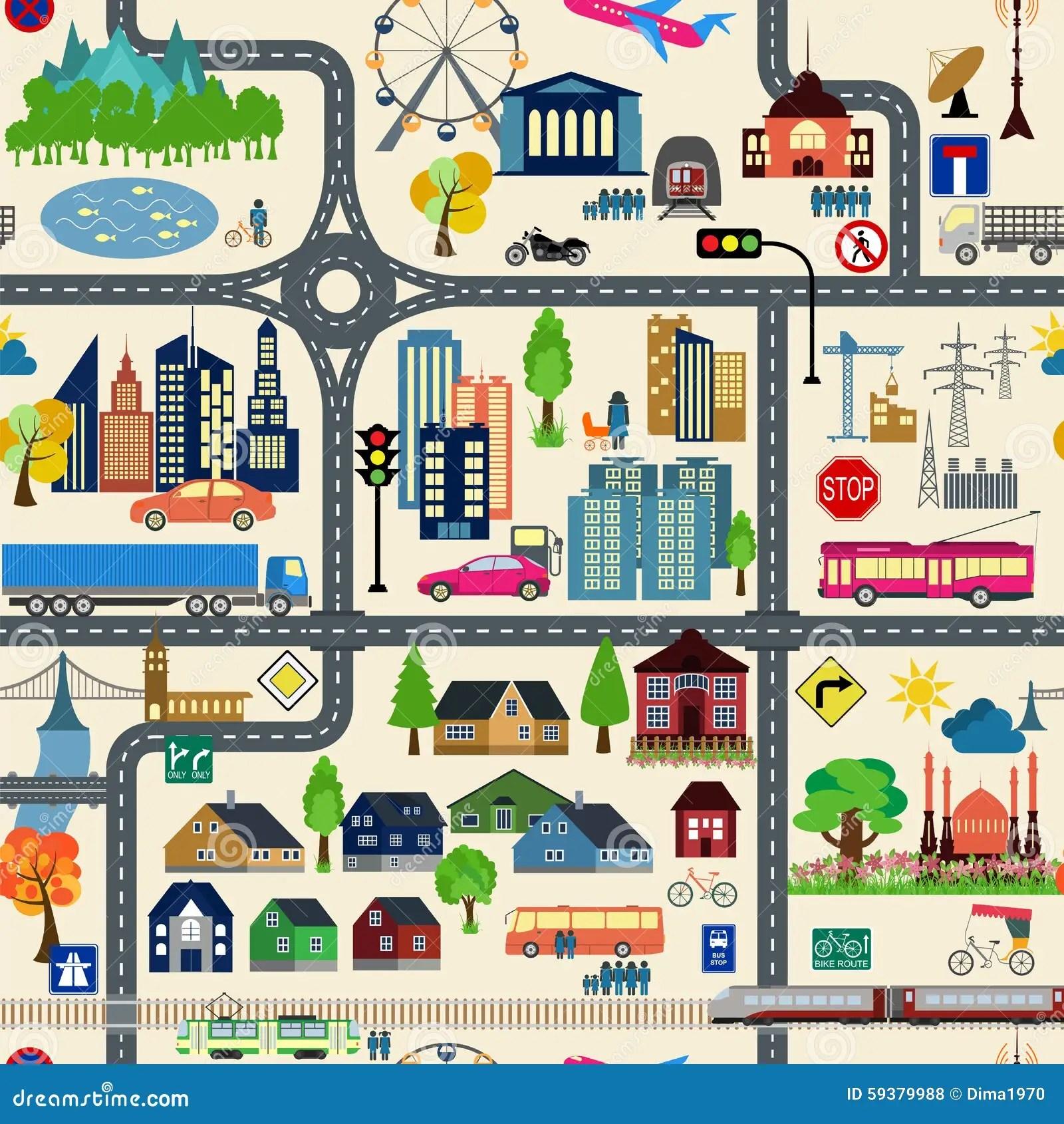 Generador Del Mapa De La Ciudad Ejemplo Del Mapa De La