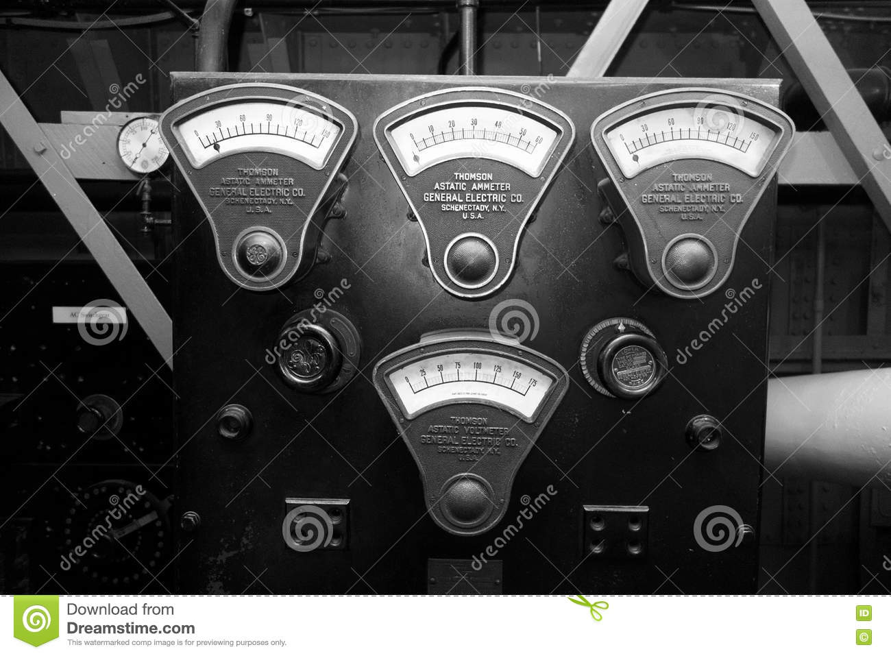 General Electric Vintage Gauges Editorial Photography Image 74076447